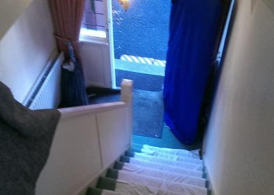 Protecting carpets, banister & doorframes